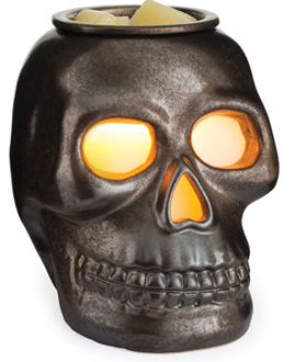 Halloween-skull-candle-holder